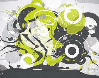 Gizmo - Techno Graffiti Abstract Print