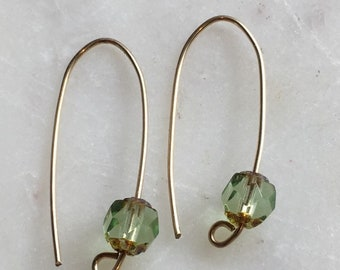Gold earrings, 14 carat gold filled earrings, Beautiful earrings