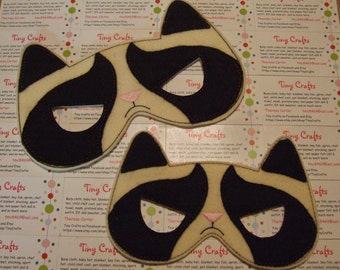 Grumpy Cat inspired felt mask dress up or Halloween Costume Pretend Play Imagination Education party favor