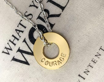 Authentic My Intent Chain Necklace - What's YOUR word?
