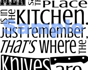 Knifes in the kitchen SVG