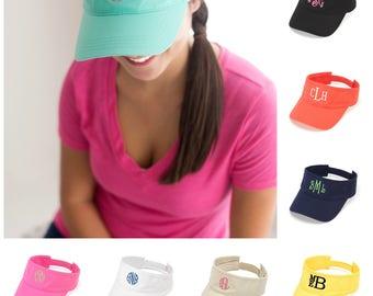 Monogram Sun Visor, Monogram Cap, Bridesmaid, Sun Visor, Mongram Gift, Personalized Hat, Cap with Monogram, beach hat monogram, boat hat