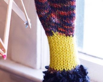 Liz's Handwarmers Knit Kit Purple