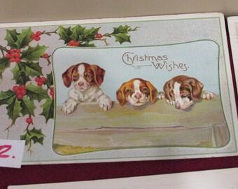Vintage Christmas Postcards Choice 1-7