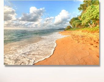 Kauai beach and water photo | Ocean Photography / kauai beach photo | hawaii beach photo / kapaa kauai beach photo / tropical beach photo