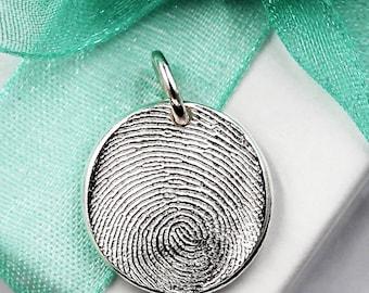 Fingerprint necklace jewelry dog paw necklace jewelry fingerprint jewelry thumbprint jewelry silver fingerprint necklace fingerprint necklace keepsake fingerprint charm solutioingenieria Gallery