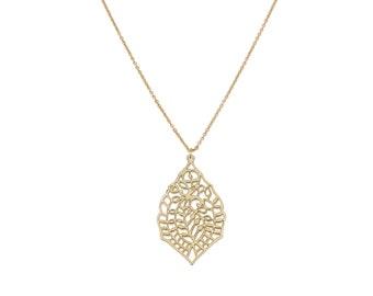 Filigree Leaf & Helen Chain Necklace