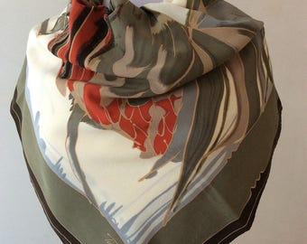 Tino Lauri, vintage scarves with animal.