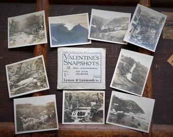 Early 20th Century Tourist Photos Postcards Valentine's Snapshots Lynton Lynmouth Devon England 1920's Original Envelope