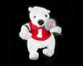 Coca - Cola Bear -  collectible bear - limited edition bears - Coke collectibles- Cola bear -- white bear -   # 1