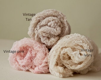 XXL Cocoon length Fluffy Textured 15 feet long Open weave cotton Newborn Wrap semi-stretch Baby Wrap Cheesecloth 10+ colors Cocoon Newborn