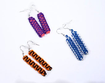 Earrings 'Accents', microcord