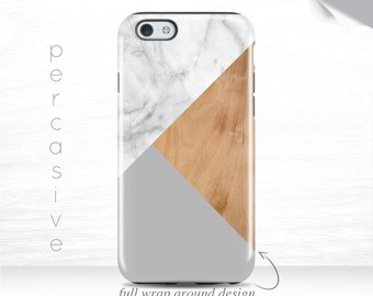 iPhone 6 Case Marble Geometric iPhone 6 Plus Case Wood Print Galaxy S7 iPhone 5s Case Triangle iPhone 6s Case White Marble iPhone 7 case 01p