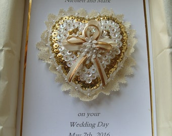Handmade and Personalised Wedding Card