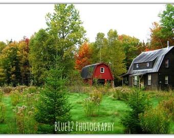 The Little Cottage - Countryside Photography - Cottage Decor - Home Decor - Farmhouse Decor - Art Print - Maine
