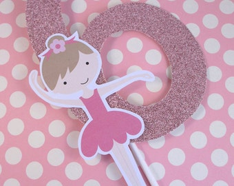 Ballet Party Custom Age Number Cake Topper - My Little Ballerina Collection