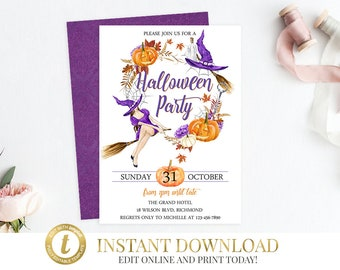 Halloween Invitation, Halloween Party, Halloween, Halloween Invite, Adult Halloween,Costume Party, Printable Invitation, Printable Halloween
