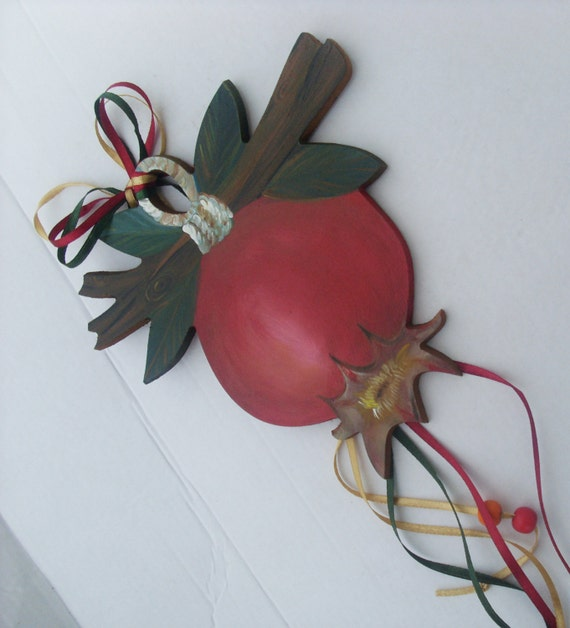 Colorful Pomegranate Fruit On Tree Branch  - Home Decor - Wall Hanging