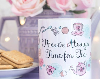 Tea Quote Mug - Time For Tea Collection - Vintage Tea Party