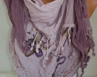 Ombre triangle Scarf Bohemian Shawl Oversize Scarf Shawl Cowl Scarf Gift for Her Women Fashion Accessories Scarves Mother's Day  Gift