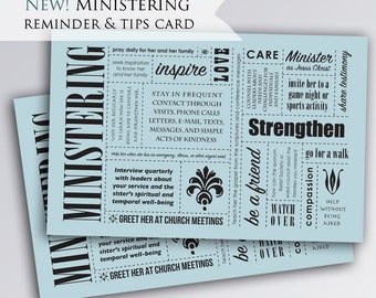 Ministering As The Savior Does Handout | reminder | bookmark | Printable | digital download |  Relief Society | LDS Ministering Sisters