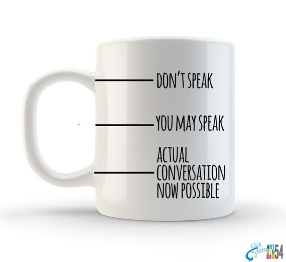 Unique Funny Coffee Mug, Tea Mug, Coffee Cup, Ceramic 11, Quote, Saying, Typography, Gift, Boss, Employee, Personalized, Custom, artstudio54