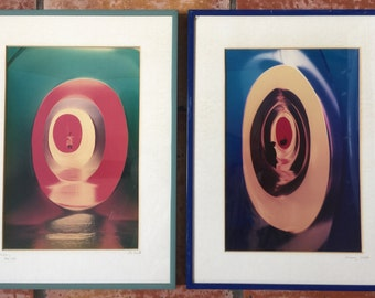 Pair Original 1986 Art Photographs by LOU SMITH Germany Groovy 60's Pop