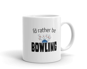 Bowling Player Coffee Mug, I'd Rather Be Bowling