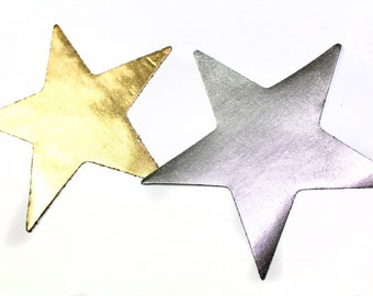 2 Heat Transfer Applique Designs of Star Patches - for Fashion Crafts and Home Decor