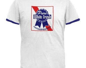 Pure White Trash Ringer T-Shirt