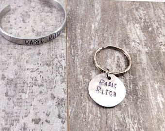 Basic B!tch Handstamped Dog Tag