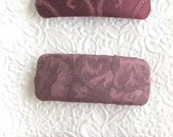 CLEARANCE - Wine grape barrettes, embroidered barrette, fabric barrette, hair accessory, fashion accessory, choose from 3 styles