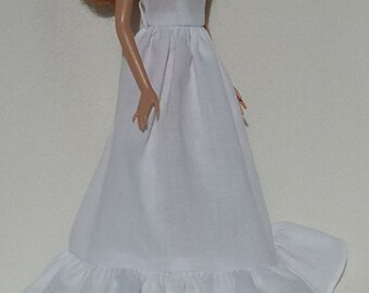 "Birthday party Wedding Handmade long dresses for 11.5"" fashion doll dresses - for you to decorate"