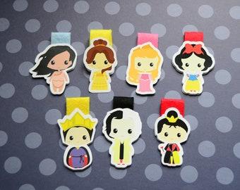 Disney pocahontas aurora cruella evil queen queen of hearts belle princess Magnetic Bookmarks