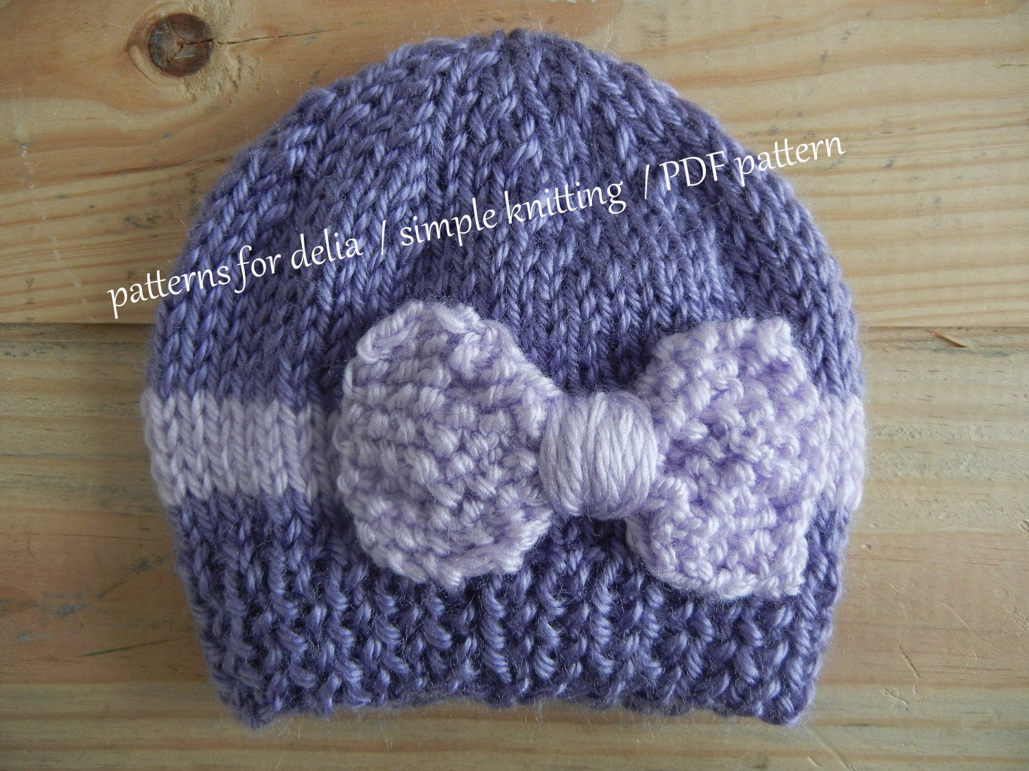 Bow hat knitting pattern newborn baby infant toddler child zoom bankloansurffo Gallery