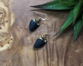 Black Jasper Tiger Nail Earrings Black Jasper Earrings Dangle Earrings Small Dangle Earrings Gifts Under 20 Gifts For Her Earrings For Her
