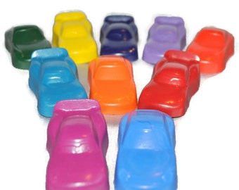 Recycled Crayons Car Shaped / Total of 20.  Boy or Girl Kids Unique Party Favors, Crayons.