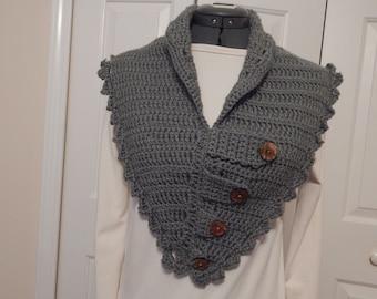 hand crocheted Neck Warmer