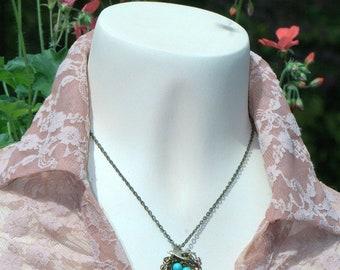 Custom Birdsnest Mothers 1 - 7 eggs Necklace. Turquoise jewelry Bird Nest House warming New Mom Baby children wedding party Personalized Mom