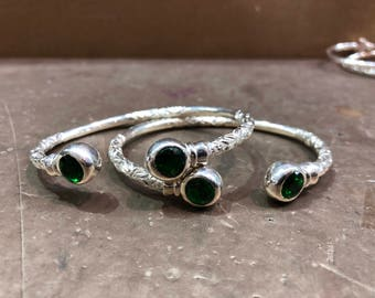 Sterling Silver bangles (pair)