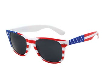 American Flag Retro Sunglasses Great for 4th of July, Independence Day! USA