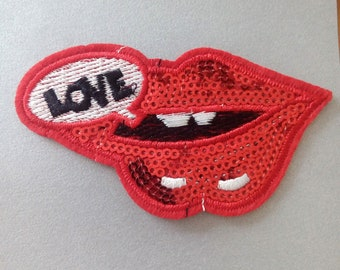 Iron On Patches, Lips Iron on Patche,  Clothes Decoration tool
