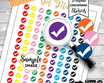 Check mark Icons, Tick Planner Stickers, Printable Planner Stickers, Stickers For Planner, Functional Planner Stickers