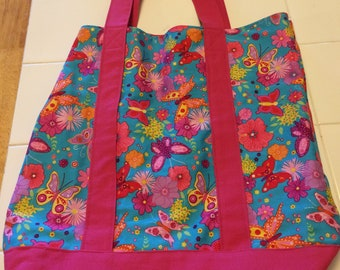 Butterfly Heavy Duty reusable  tote bag that lets you express your inner joy