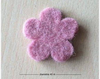 pretty little flower felt roseline 40 mm