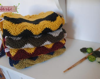 Welcome to Hogwarts! Scarf with stripes - the colors of the four houses