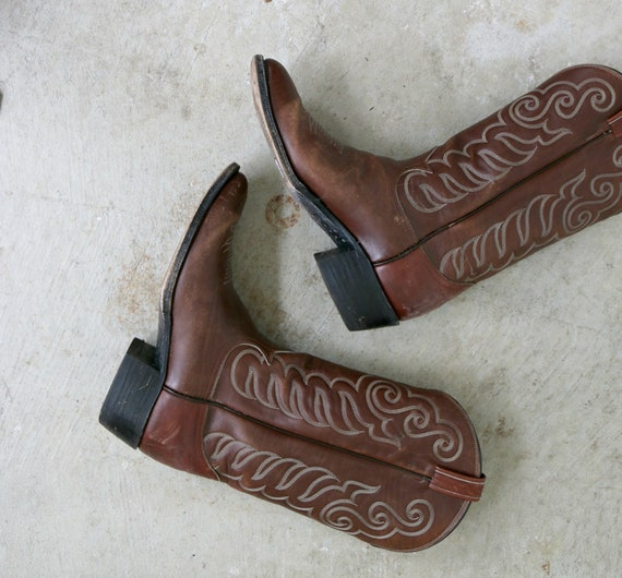 Tony 2 Women's 2 Boots 11 to 1980s Men's Size Cowboy to 11 1 10 1 10 10 5 Lamas 5 11 Size BwnOqd