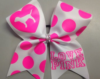 Love Pink texas cheer bow