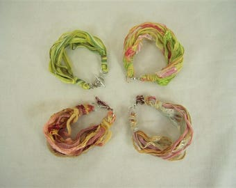 BEAUTIFUL Ribbon Yarn Bracelet - braiding optional
