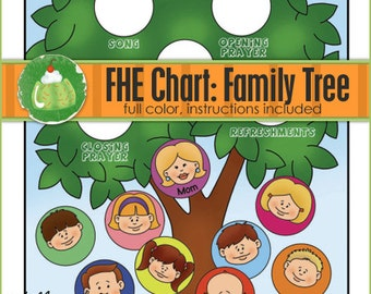 FAMILY HOME EVENING Chart - Family Tree - Downloadable File